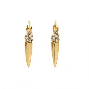 1-Drop-Bright-Gold-Tone-Clear-Crystals-Leverback-Earrings-By-Sorrelli-Bridal-362030952266