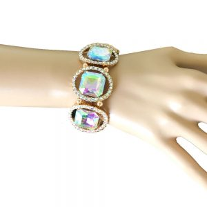 125-Wide-Aurora-Borealis-Glass-Crystal-Stretch-Bracelet-Drag-Queen-Pageant-362011028746