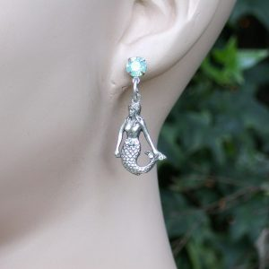 15-H-Aqua-Opal-Crystal-Mermaid-Earring-by-Mary-DeMarcoLa-ContessaMade-in-USA-361517054956