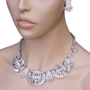 Deco-Style-Cleopatra-Statement-Necklace-EarringsDrag-Queen-Pageant-Bridal-172810496406