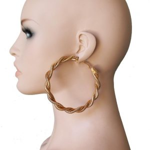 Huge-35-Diameter-Golden-Twisted-Hoop-earrings-Pageant-Drag-Queen-Hip-Hop-172316701536