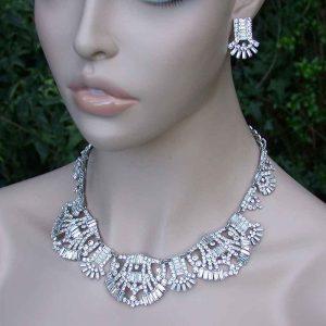 Luxurious-Deco-Style-Cleopatra-Bib-Necklace-EarringsDrag-Queen-Pageant-Bridal-172325588136