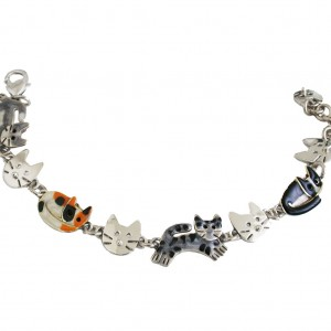 Nickel-Silver-Kitty-Cats-Bracelet-Designed-By-Anne-Jane-Made-In-Mexico-361485077196