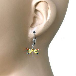 125-Long-Lightweight-Crystal-Dragonfly-Earrings-By-Anne-Koplik-Made-In-USA-172774942377