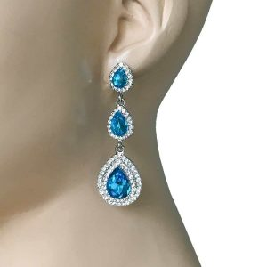 225-Long-Linear-Turquoise-Pool-Blue-Glass-Rhinestones-Evening-Earrings-172640925787