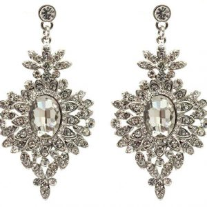 25-Long-Timeless-Victorian-Clear-Crystals-Acrylic-earrings-Pageant-Bridal-361741370797