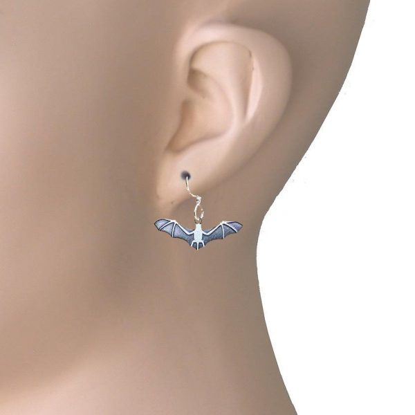 Bat Earrings By Joseph Brinton Hypoallergenic Sterling Wires Made in USA