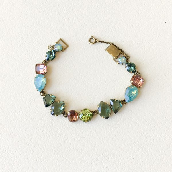 Gem Pop Collection Multicolor Crystals Bracelet By Sorrelli Neutral Shades