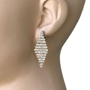15-H-Kite-Shape-Moving-Joints-Clear-Crystals-Post-Earrings-Pageant-Bridal-172795520838