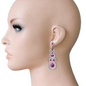 25-Long-Designer-Inspired-Purple-Rose-Mosaic-Earrings-BOHOCrystal-172644585128