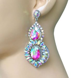 325-Long-Evening-Earrings-Aurora-Borealis-Crystals-Bridal-PageantDrag-Queen-362105396298