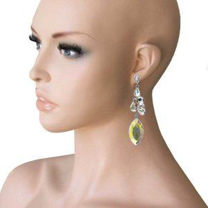 325-Long-Evening-Earrings-Aurora-Borealis-Glass-Drag-Queen-Pageant-Bridal-172827929898