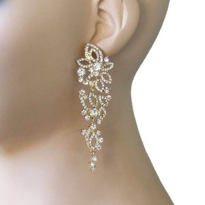 35-Long-Classic-Elegant-Clear-Crystals-Filigree-Earrings-Pageant-Bridal-172463268688