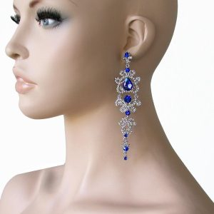 45-Long-Classy-Aurora-Borealis-Crystal-earrings-Pageant-Drag-Queen-361728673208