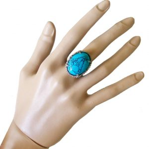 Classic-Oval-Reconstructed-Turquoise-Adjustable-Cocktail-Ring-By-Sorrellil-361998468298