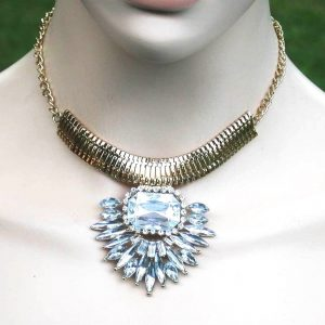 Designer-inspired-Necklace-Earrings-Clear-Acrylic-Lucite-Bridal-Pageant-172599862378