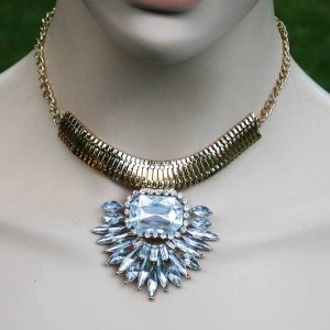 Designer-inspired-Necklace-Earrings-Clear-Acrylic-Lucite-Bridal-Pageant-361425636718