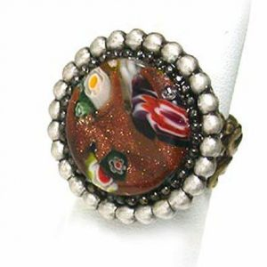 Glittered-simulated-Goldstone-Glass-Ring-by-Ollipop-Sweet-Romance-Made-in-USA-172160511108