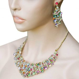 Vitrail-Cubic-Crystals-Bib-Statement-Necklace-Earrings-Set-Drag-QueenPageant-172445727908