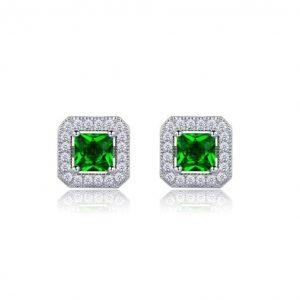 38-Drop-Classic-Small-Stud-EarringsLab-Created-Emerald-Green-CZ-GIFT-BOX-172640777359