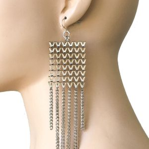 575-Silver-Tone-Long-BOHO-Large-Statement-Earrings-Hip-Hop-Drag-Queen-362027998289