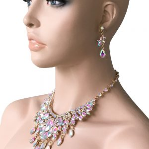 Aurora-Borealis-Statement-Evening-Necklace-EarringsPageant-Drag-Queen-Bridal-172644590959