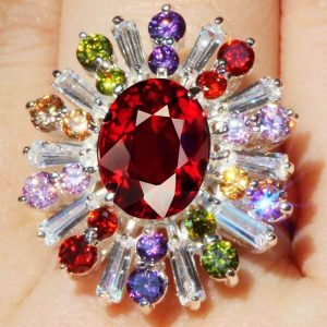 Lab-Created-Birthstones-Exquisit-Garnet-925-Sterling-Silver-Ring-Sizes-7-9-172534008649