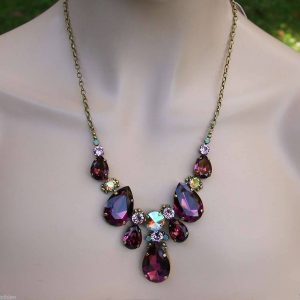 Sangria-Collection-Multi-Length-Statement-Necklace-By-Sorrelli-Bridal-Burgundy-361560006279
