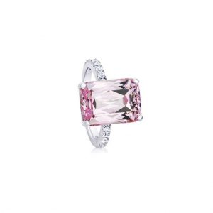 Simulated-Kunzite-Solitaire-Cubic-Zircon-CZ-Silver-Plated-Rings-Size-6-7-361964831199